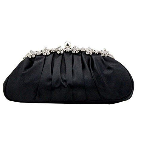 Black Senior Metall Party Tasche Party Lock Dinner Dame Silk Imitation A7axwqwzH