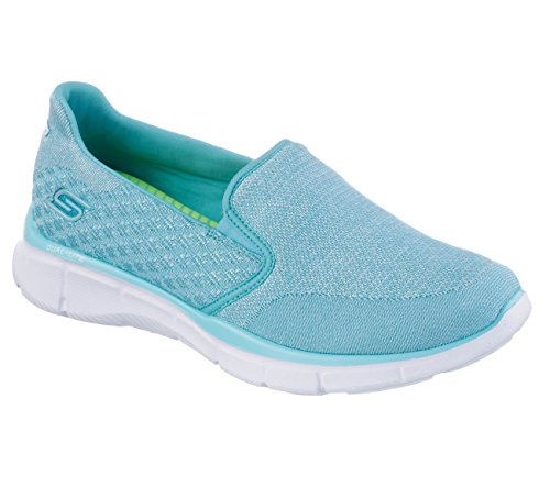 Skechers Damen Equalizer Say Something Sneakers Say Something/Light Blue