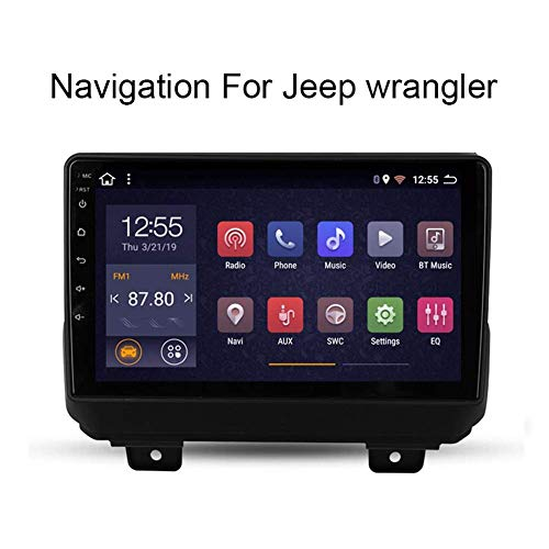 Android 8.1 Auto-Stereo for Jeep Wrangler 2018,9 Zoll im Schlag Head Unit Einzel Din Autoradio GPS-Navigation Unterstützung volle RCA BT Mirrorlink WiFi-Auto-Play-TPMS DVR OBD2 (Size : WiFi:2+32G)