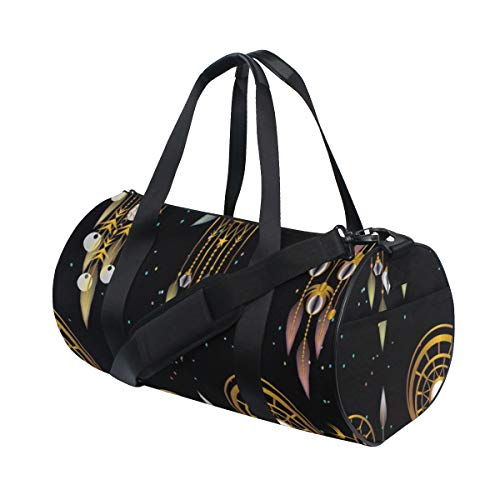 PONIKUCY Bolsa de Viaje,Atrapasueños geometría Abstracta,Bolsa de Deporte con Compartimento para Sports Gym Bag