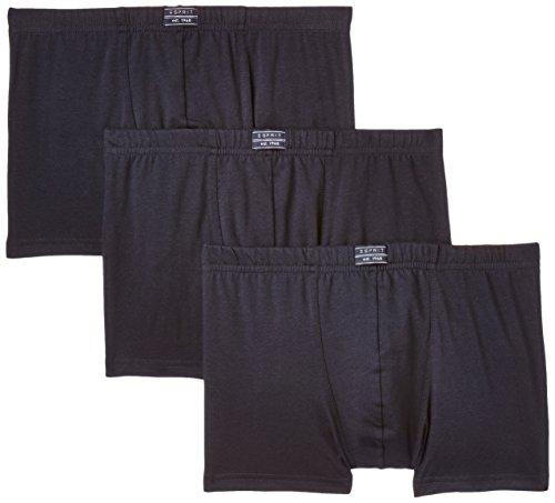 ESPRIT Bodywear Herren Retroshorts Value, 3er Pack, Einfarbig, Gr. X-Large (Herstellergröße: 7), Blau (Navy 415)
