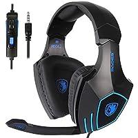 Cuffie Gaming, Cuffia PS4 Xbox One con Microfono Noise Cancelling Stereo Bass 3.5mm per PC Portatili Mac Tablet e Smart…