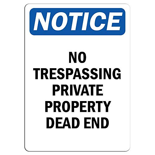 Sary buri Notice No Trespassing Private Property Dead End Plaque Wandkunst Garage Club Bar Dekoration