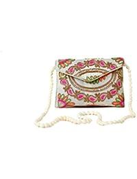 HOME ART 9 Women's Sling Bag (Embridered Handicraft Traditional Sling Bag,Multi-Coloured)