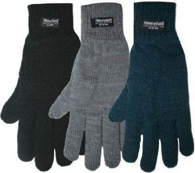 GL Damen-Handschuhe, Thinsulate, gestrickt, gefüttert  - Schwarz - Schwarz - Taille unique (Damen Thinsulate Handschuhe)