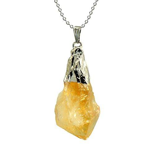 Amarillo Citrino Natural Rough Rock Collar...
