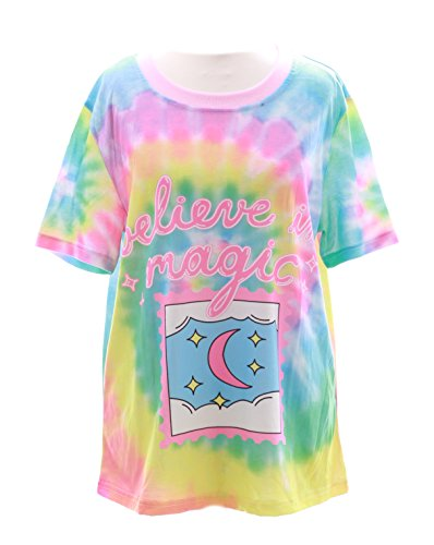 T-38 Believe in Magic Rainbow Spirale Pastel Goth Lolita Japan T-Shirt Harajuku Kawaii-Story