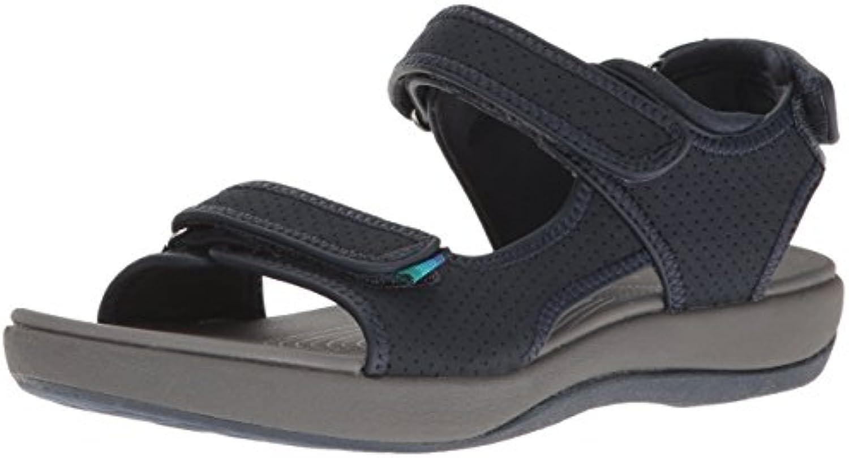 Clarks Wouomo Brizo Sammie Sammie Sammie Flat Sandal, Navy Perforated Microfiber, 8 B(M) US   vendita di liquidazione  cb201c