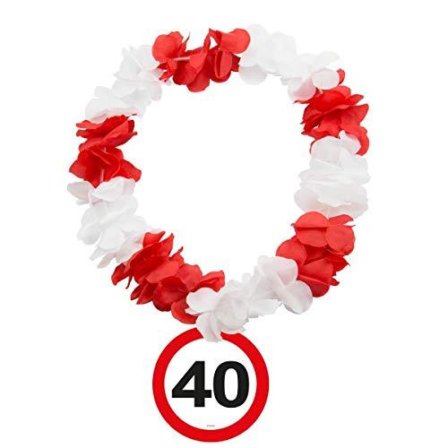 Folat Hawaiikette Verkehrsschilder * Zahl 40 * für den 40.Geburtstag // Hawa Preisvergleich
