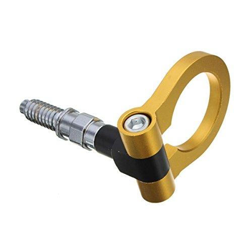 winomo Auto Auto Racing Front Zughaken-Trailer Ring Auto Zubehör für Universal (Gold)