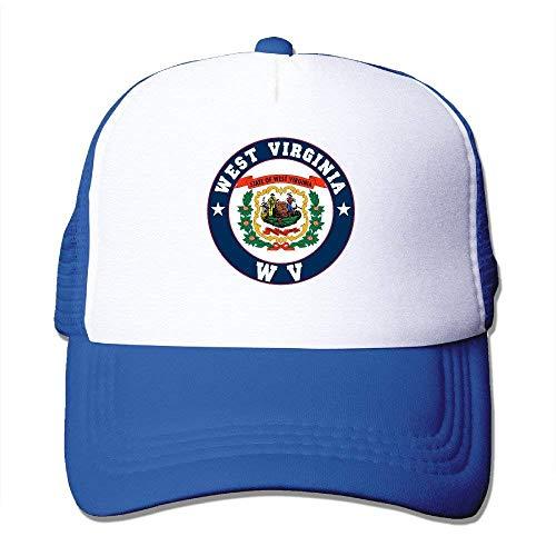Wamnu Flag of West Virginia State WV Adjustable Baseball Mesh Hat -