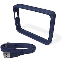 WD Grip Pack - Funda de disco duro para My Passport Ultra (incluye cable USB 3.0), pizarra