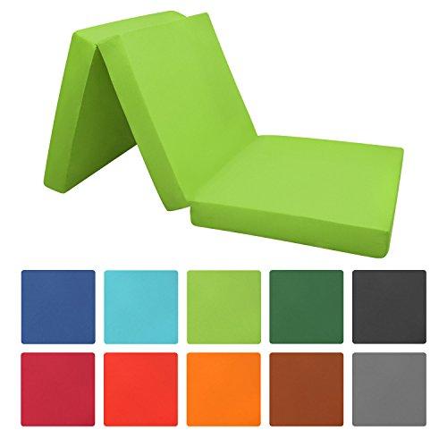 Beautissu® Pouf pliable Campix – Matelas pliant de voyage – Confortable lit d'invité housse en microfibre – Disponible en différente couleurs