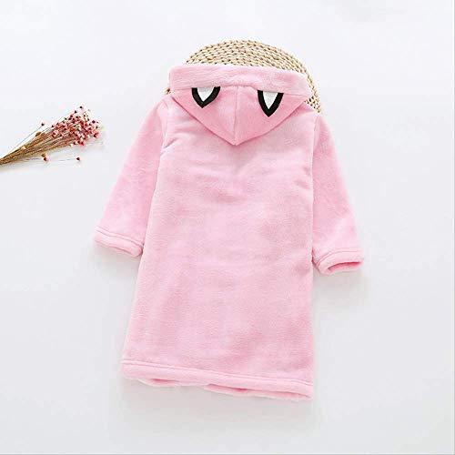 Mädchen Baumwolle Roben Kinder Baby Jungen Flanell Bademantel Kleidung Herbst/Winter Kinder Trainingsanzug Hause Gürtel Bademantel Pyjamas Kleidung 2 T rosa - 4t-kapuzen-handtuch