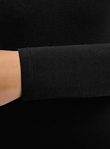 oodji Ultra Mujer Vestido de Punto Ajustado, Negro, ES 40 / M