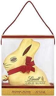 Lindt goudhas, 1 kg, volle melk, met de hand gewikkeld in een doorzichtige doos, chocoladegeschenk, per stuk verpakt (1 x 1