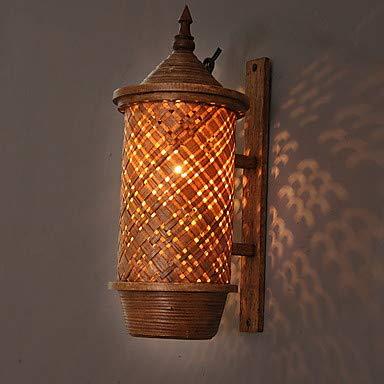 XGLL Cool Traditionell-Klassisch Wandlampen Drinnen Holz/Bambus Wandleuchte 220-240V 15 W -