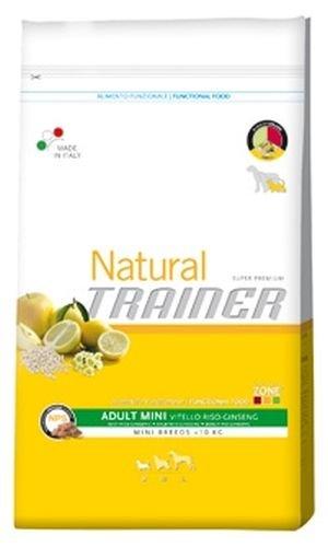 Trainer Natural - Natural Trainer Adult Mini con Manzo, Riso e Ginseng per Cani - Sacco da 2 kg