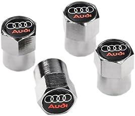 Audi Schwarz und Chrom Ventil Staub Reifen Gap