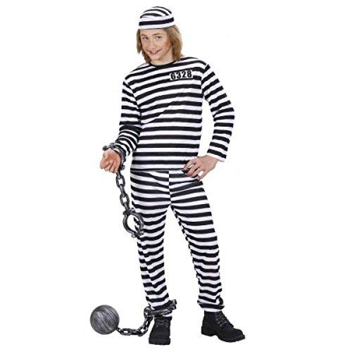 Convict - Kinder Kostüm (Kind Kostüme Gefangene)