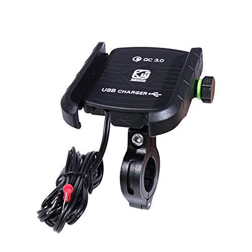 YGL Universale Porta Cellulare Moto, 360 °Regolabile Compatibile da 3,5-6 Pollici Alluminio Porta Telefono Moto Supporto...