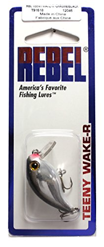 Rebel Teeny wake-r Lure 's, chrom / schwarz, 1 1/2-Inch, 5/32-Ounce (Rebel Fisch)
