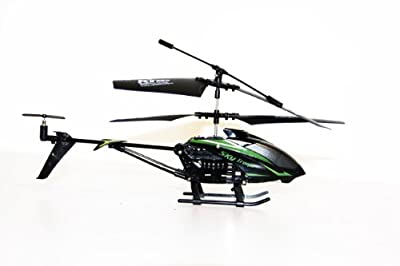 Flying Gadgets Remote Controlled (RC) Flight Easy to Fly 3.5 Channel Indoor Full Gyroscopic Helicopter - Green & Black by Flying Gadgets