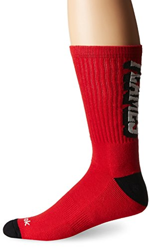 Reebok Herren NHL SP17Vertikale Namen Crew Socken, Herren, Nhl Sp17 Vertical Name Crew Socks, rot