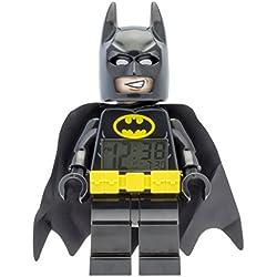 Reloj despertador infantil con figura de LEGO BATMAN. 9009327, amarillo / negro, plástico, 24 cm de alto, pantalla LCD, Chico Girl, Oficial