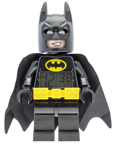 Despertador Infantil con Figurita de BATMAN: LA LEGO PELÍCULA 9009327, amarillo / negro, Plástico, 24 cm de altura, Pantalla LCD, Chico Chica, Oficial