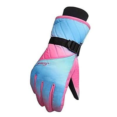 Frauen Snowboard Handschuhe Warm Wasserdichte Ski Handschuhe Radfahren Handschuhe, F