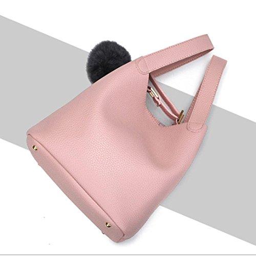 TPulling Weiche Lederne Stereotypen Eimerhandtaschen Schulterhandtaschenart Und Weise Kurierbeutel Handtasche Rosa