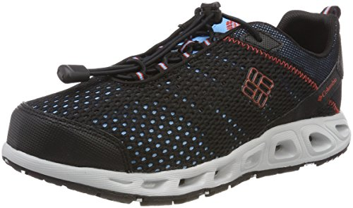 Columbia Youth Drainmaker III, Zapatillas Impermeables Unisex niño, Negro Black/Super Sonic 010...
