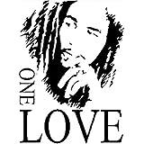 Bob Marley One Love PVC DIY Vinilo Mural Adhesivo de Pared Extraíble Art Decals decoración del hogar Póster de la ventana