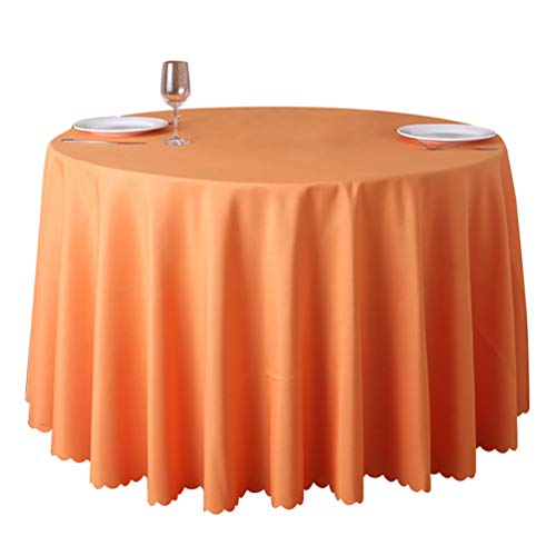 Dooxii Tischdecke Restaurant Hotel Bankett Runder Festliche Tischdecken Pflegeleicht Tischdekoration (Orange, 220cm)