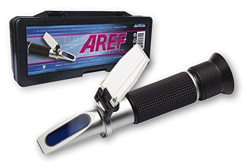 MICROBE-LIFT ARKA Refraktometer – Dichtemesser/Salinität mit Temperaturausgleich, Doppelanzeige, für Meerwasser