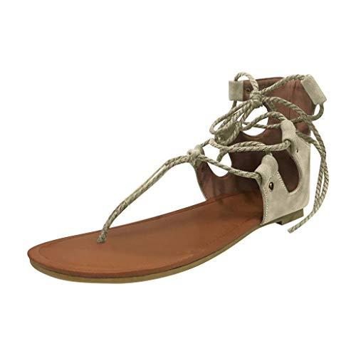 UINGKID Sandalen Damen Clip-Toe Schuhe Flache Unterseite Knöchelriemen Große - Kelly Schuhe Kostüm