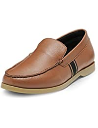 Teakwood Men's Real Genuine Leather Slip-on Mocassin Loafers Casual Shoes - B071XVZ17Y