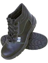 Chintex - Bota de seguridad piel negra con cordones t43