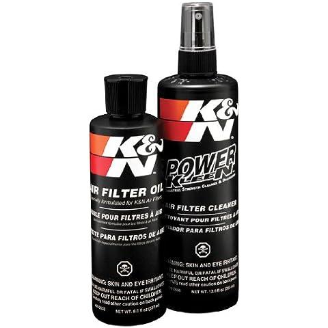 K&N 99-5050 - Kit de mantenimiento para filtros de aire, Limpiador de filtro 350 mL + Aceite 225 mL