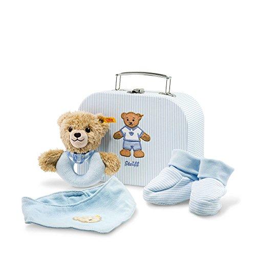 Steiff 240553 Geschenkset Schlaf Gut Baer Greifring, blau