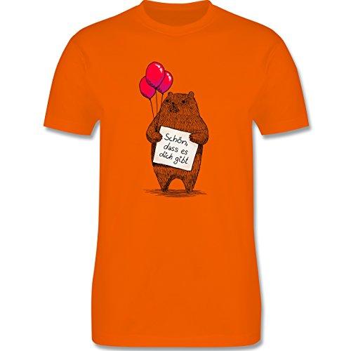 Statement Shirts - Schön, dass es dich gibt - Herren Premium T-Shirt Orange