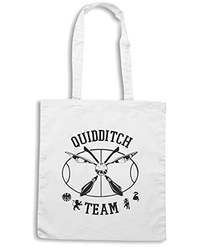 T-Shirtshock - Borsa Shopping FUN0183 07 17 2012 Quidditch Team T SHIRT det Bianco