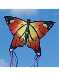 Schmetterling Drachen - Butterfly Orange - Einleiner Flugdrachen für Kinder ab 3 Jahren - 58x40cm - fertig aufgebaut - sofort flugbereit!