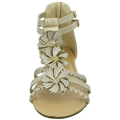 living Updated CD41015-3 Damen Sandalette bis 30mm Absatz Beige (Gold)