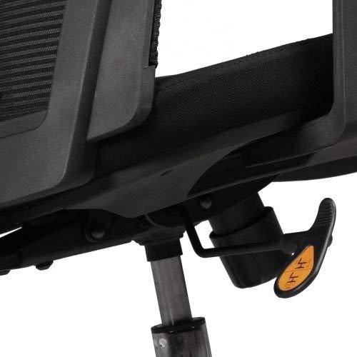 AMSTYLE Bürostuhl BASELINE Bezug Stoff Schwarz Schreibtischstuhl höhenverstellbar Design 120 kg Chefsessel Synchronmechanik ergonomisch Drehstuhl hohe Rücken-Lehne mit Armlehnen X-XL Hochlehner ergo -