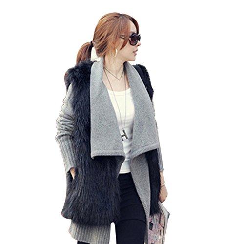 DINGANG - Manteau sans manche - Femme Noir