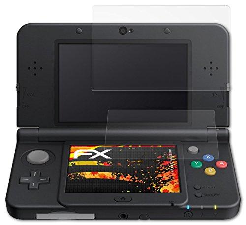 Preisvergleich Produktbild Nintendo New 3DS (2015) Displayschutzfolie - 3er Set atFoliX FX-Antireflex-HD hochauflösende entspiegelnde Folie