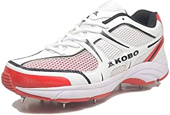 KOBO CRICKET SHOES/FULL SPIKES/HALF SPIKES/CONVERTIBLE FOR BATTING AND BOWLING