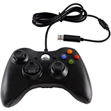 Gamepad Controller, PC Controller, Xbox 360 Wired USB Gamepad Joypad for Microsoft Xbox Slim 360,PC (Windows XP/ 7/ 8/ 10),Android (TV/ Phone/ Tablet) and PS3 -Black